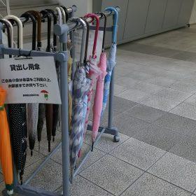 出番待ちの傘たちです