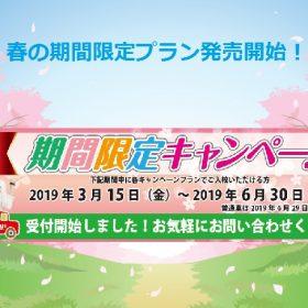 春の期間限定キャンペーン発売中!